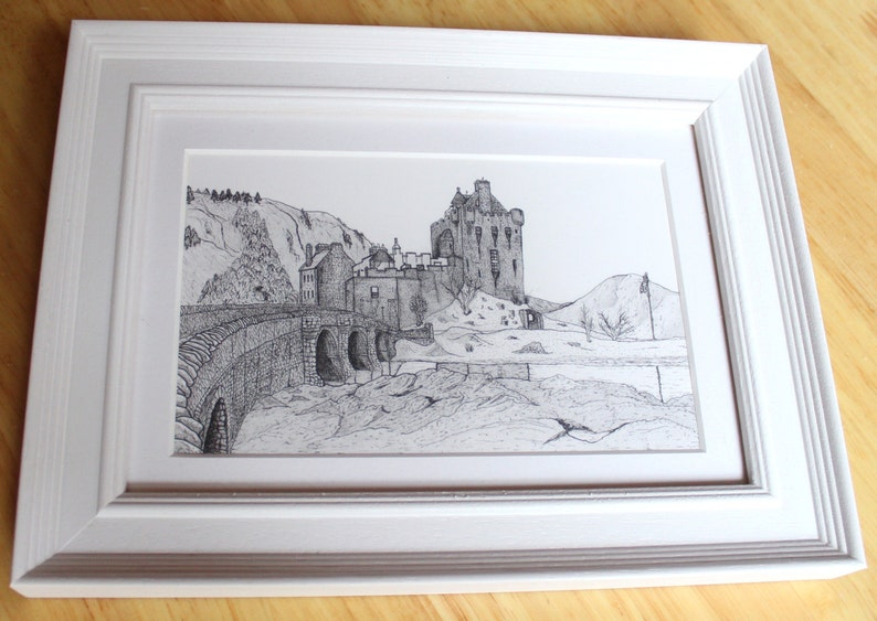 Eilean Donan Castle Drawing  Scotland image 0