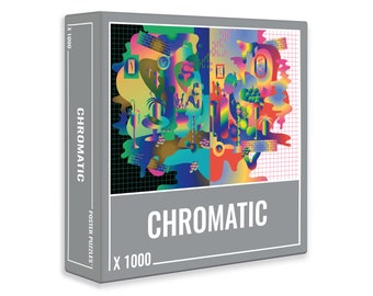 Chromatic –Colourful 1000-Piece Puzzle for Adults with a Psychedelic Design, by Cloudberries
