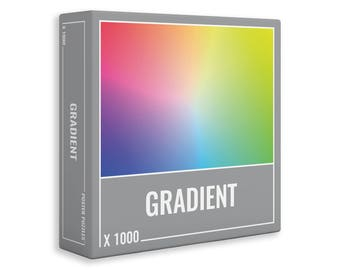 Gradient 1000 Piece Jigsaw Puzzle for Adults by Cloudberries.  Made in Europe by Cloudberries. One Tree Planted for Every Puzzle Sold.