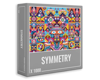 Symmetry – Challenging, Symmetrical 1000-Piece Jigsaw Puzzle for Adults.  Made in Europe. One Tree Planted for Every Puzzle Sold.