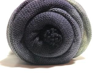 Stone. Free shipping. Ready to Ship. Gradient yarn. Purple. Gray. Indie dyed. Hand dyed. Sock yarn. Fingering Weight. Merino wool yarn.