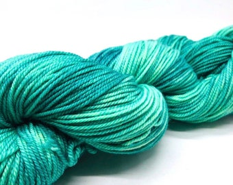 Serenity. Free Shipping! Hand dyed sport weight yarn on superwash merino wool & nylon. Indie dyed yarn. Ready to ship.