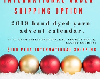 2019 Christmas Advent Calendar with hand sewn project bag. Shipping Nov 1, 2019.  International Shipping Option