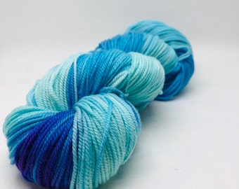 Fascination. Free Shipping! Hand dyed sport weight yarn on superwash merino wool & nylon. Indie dyed yarn. Ready to ship.