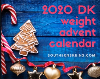 2020 Hand Dyed DK Weight Yarn Christmas Advent Calendar. Hand sewn project bag. Shipping Nov 10, 2020.  Free USA shipping.