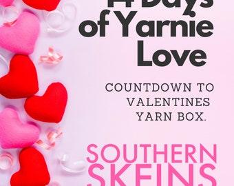 14 Days of Yarnie Love   Mini Skein Set. Ships January 15, 2021   14 Surprise Mini Yarn Skeins   Hand Dyed Yarn Set   Valentine's  