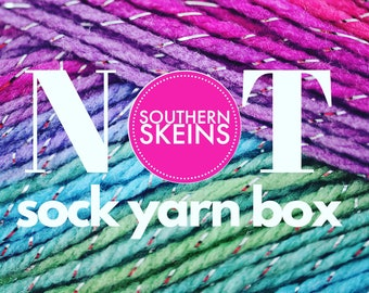2021 August | NOT Sock Yarn Club | Hand Dyed | Yarn Subscription Box | Yarn Box | Mystery Yarn | Yarn of the Month Club | Monthly Yarn |