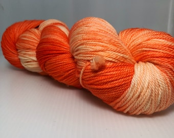 Fusion:  hand dyed on sport weight yarn base. Southern Merino 100% superwash merino wool. Ready to ship. Free Ship.
