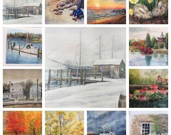 Watercolor Scenes Calendar 2018 (SALE HALF PRICE)