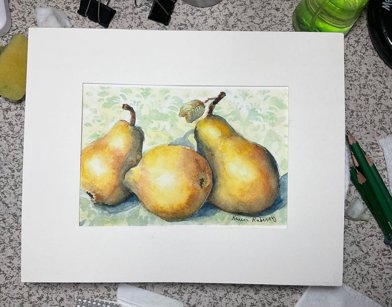 A Pair and A Half Watercolor