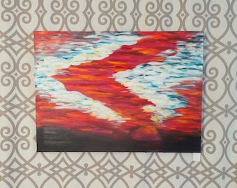 Deep Summer Sky - original oil painting