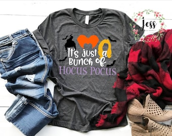 f3a8f194 It's Just a Bunch of Hocus Pocus Fall Halloween T-shirt Fall Movie Makes Me  Sick Sanderson Sisters Unisex Shirt