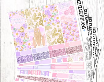 Summer Dreams || Floral, Summer, Girl, Fashion, Pink, Planner Stickers, FULL KIT