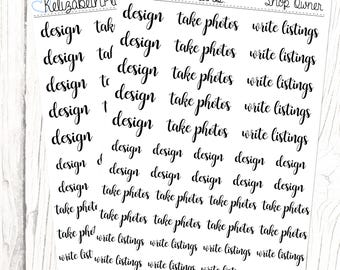 Shop Owner (Lettering Collection) | Design, Photos, Listings, Business, Planner Stickers