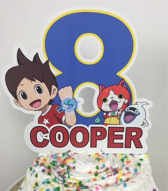 Yo Kai Cake Toppers Die Cuts Centerpiece Birthday Party