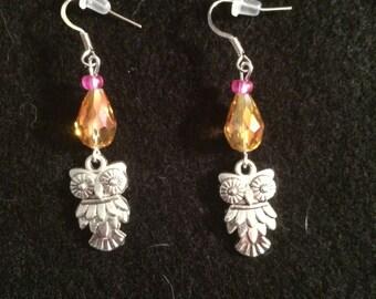 CLEARANCE Owl Earrings