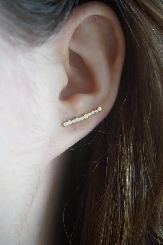 Pebble XS - Rose Gold - Bar Earring