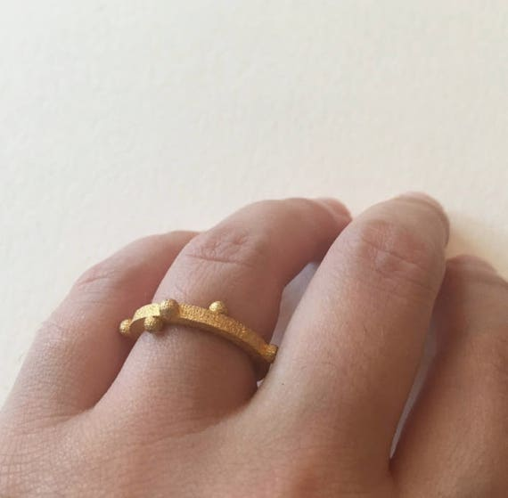 BuryX - Gold 3d Printed Ring