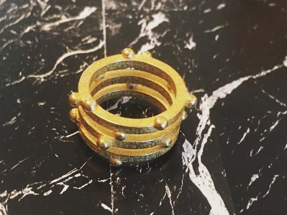 Bury 3 Ring - Gold Statement Ring
