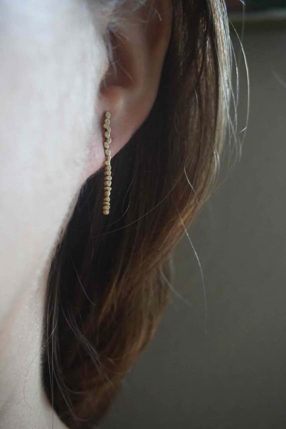 Pebble M Raw Bronze Drop Earring