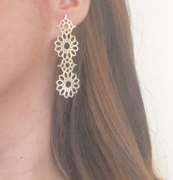 Andalucia Drop Earring in Raw Sterling Silver