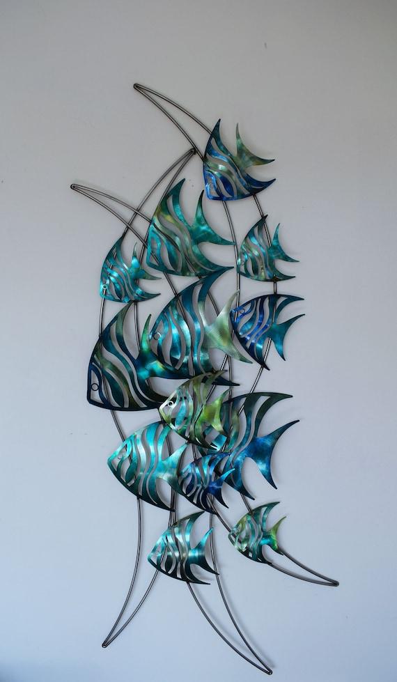 Metal Wall Art Angelfish Etsy