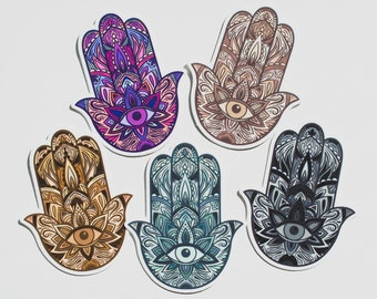 Spiritual Hamsa Hand Sticker Vinyl Bumper Sticker Decal Waterproof 5