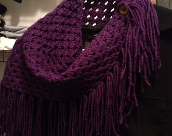 Fringed Button Cowl