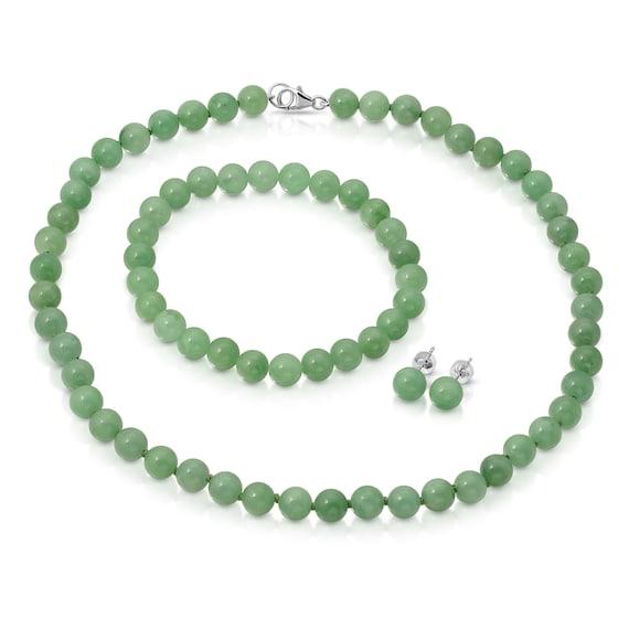 Hypoallergenic Jade chain bracelet Minimalist Green Nephrite jade jewelry Stainless steel adjustable bracelet 12th anniversary gemstone