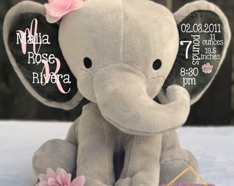 elephant birth stats etsy