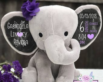 birth announcement stuffed animal etsy