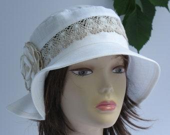 c35632c7 Womens linen hats Suns hats womens Sun lace cotton hat Linen women's hats  Cotton summer hats Beach linen hats Sun hats lady Russian linen .