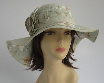 189fae8027de8 Wide brimmed summer hat Floppy Sun Hat Womens Hat Trendy Natural Hat Summer  fashion Beach wear Linen hat Flax hat handmade beige wide brim.