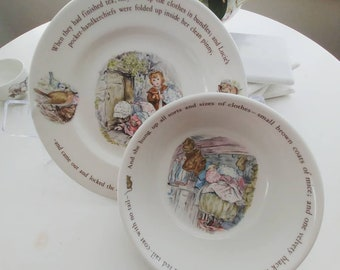 Mrs. Tiggy-Winkle Plate and Bowl