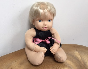 "Vtg Darice 15/"" Undressed Brunette Doll Body Craft Doll Making Sleepy Blue Eyes"
