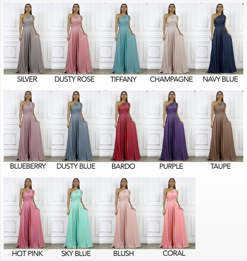Blush  Convertible Bridesmaid Dress   Infinity Long Bridesmaid Dress  Maternity Dress   Multiway Wrap Dress  Formal Party Dress