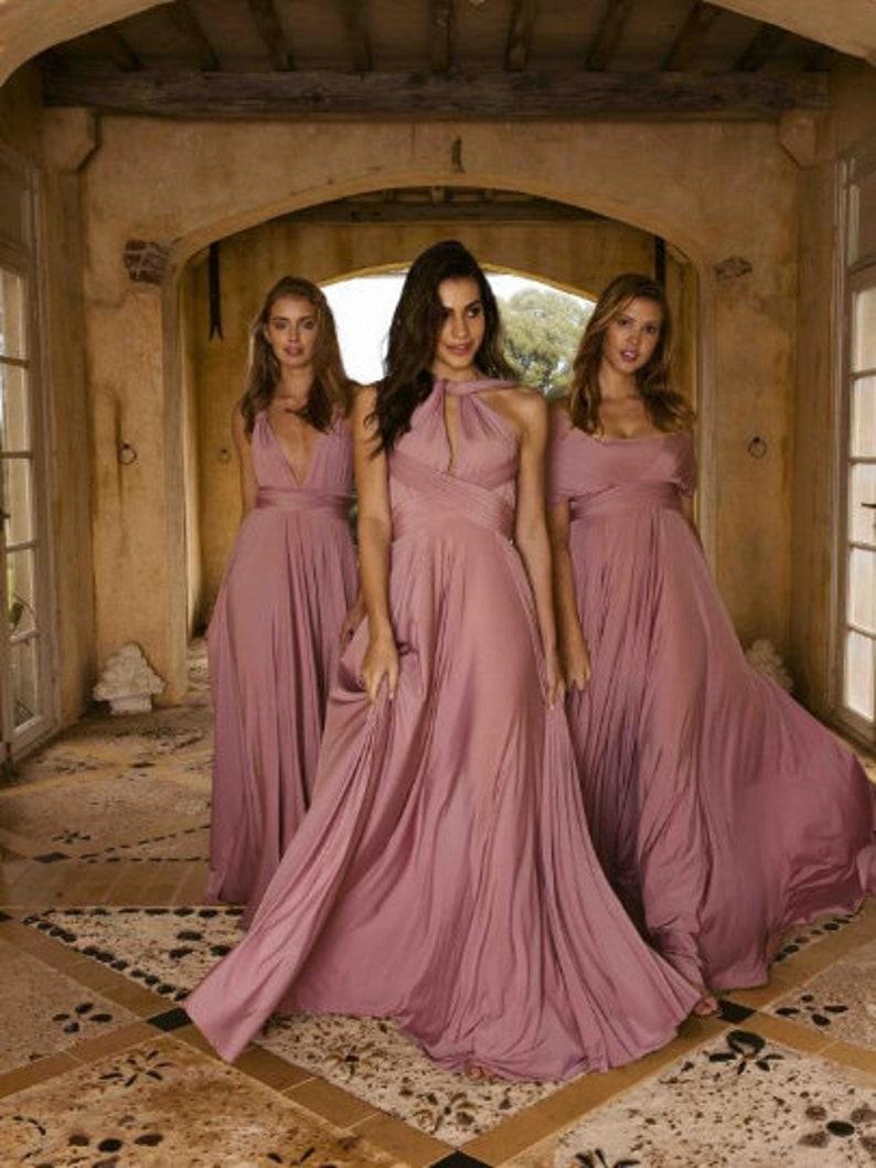16e4904986e0c Blush Convertible Bridesmaid Dress // Infinity Long | Etsy