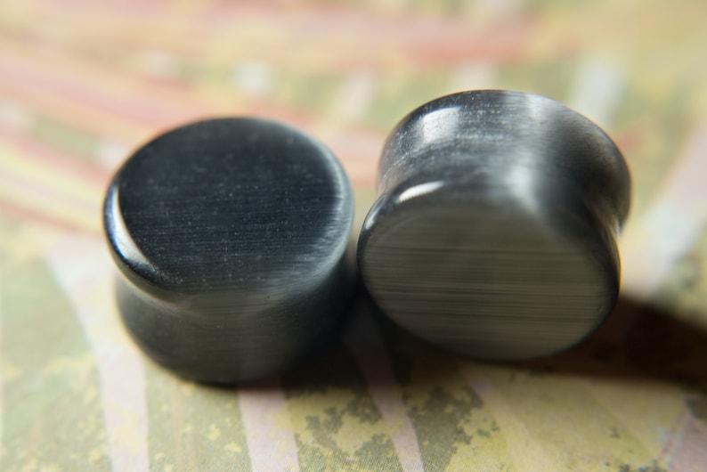 Cats Eye Stone Plug Double Flared Ear Plugs Multiple colors multiple sizes
