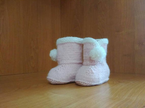 2cb3c21856ed Girl ugg boots Pale Pink baby boots Baby girl Booties Newborn