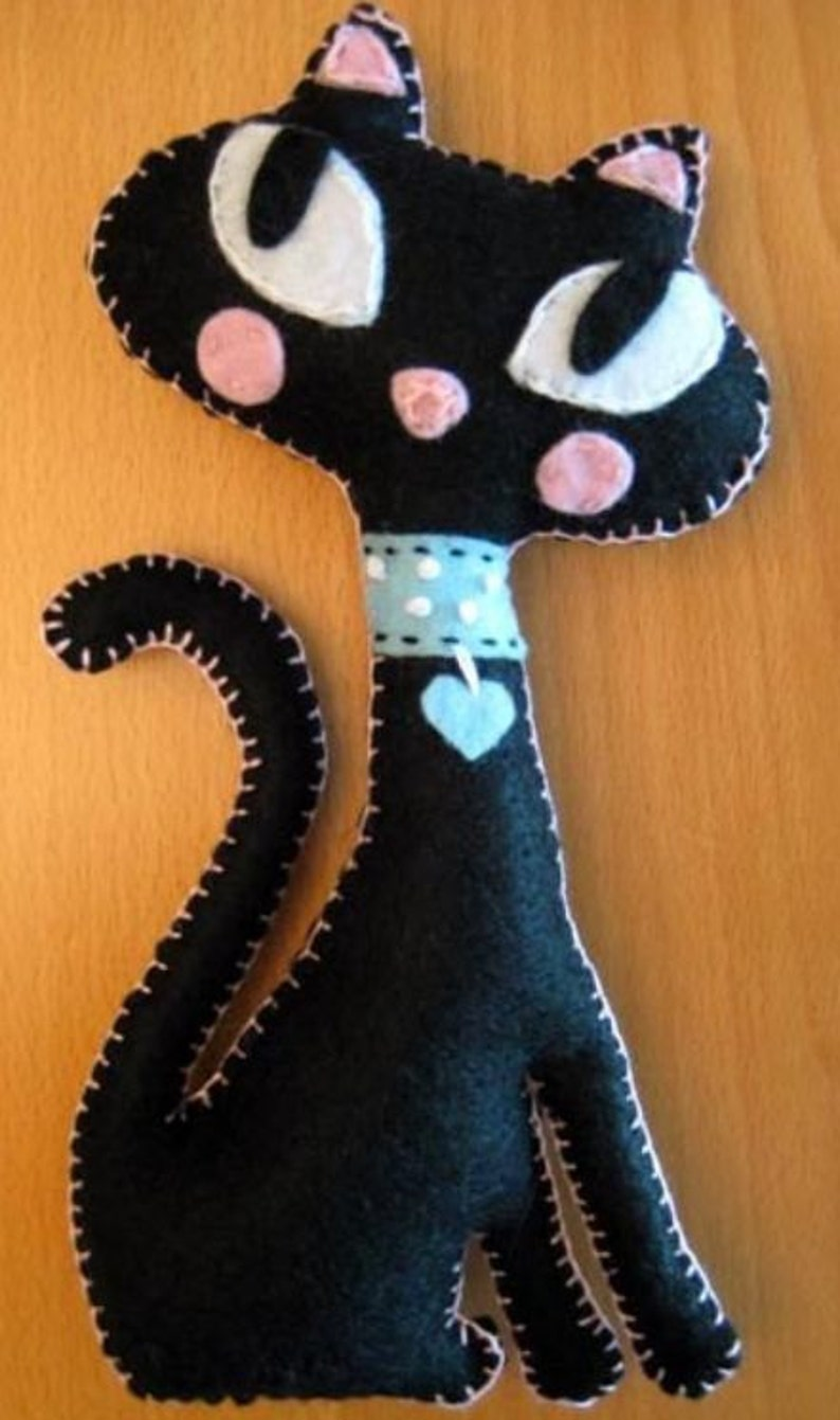 Felt Cat Ornament Birthday Gifts Christmas Kitty Home Decor