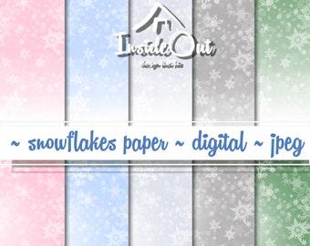 winter scrapbook new year s digital paper bokeh snowflake paper soft pastel delicate background snowflake scrapbook scrapbooking