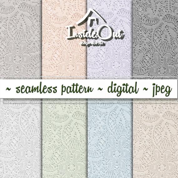Spitze digitale Papier Muster nahtlos Spitze Scrapbook Pastell | Etsy