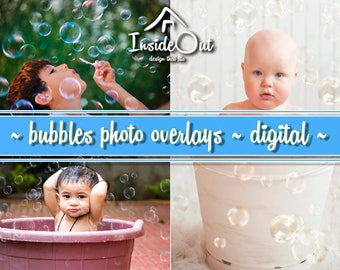 Bubbles Bath Soap Overlays Newborn Photo Spring Summer Photoshop Clear Baby Shower Digital Effects Photography Backdrop Clipart PNG Jpeg PSD