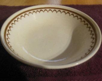 Royal China Nutmeg Scalloped Brown Rim  USA  Soup Salad Bowl