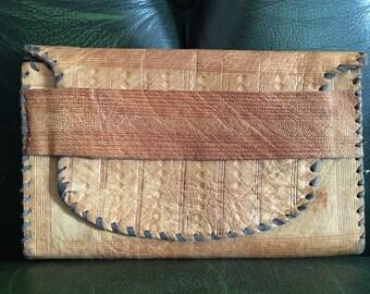 Vintage deer leather purse