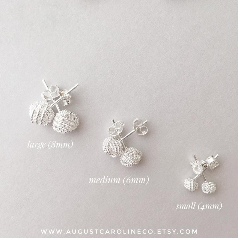 1d19662ad Twist Knot Earrings / Sterling Silver Stud Earrings / | Etsy