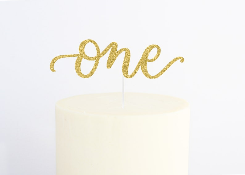 First Birthday Party Decor First Birthday Cake Topper Birthday Cake Topper Glitter Gold Cake Topper Birthday Party Decor Party Decor