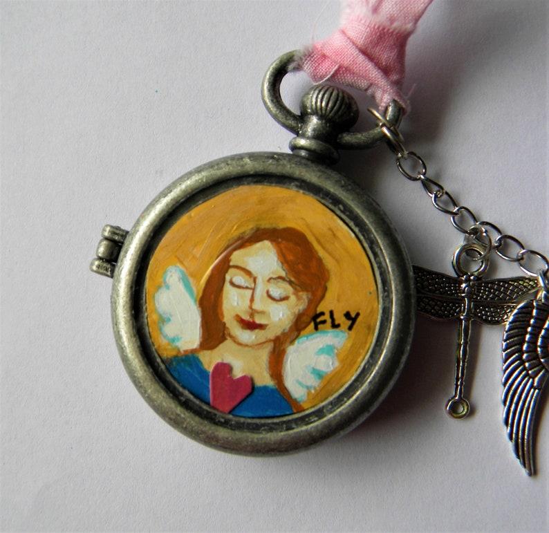 Fairy or angel pendant original art image 0