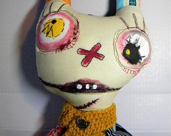 Monster doll, handmade soft art doll