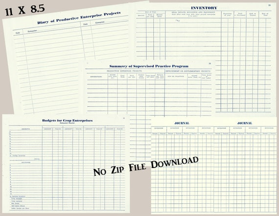 vintage farm logbook pages two blank vintage paper junk etsy